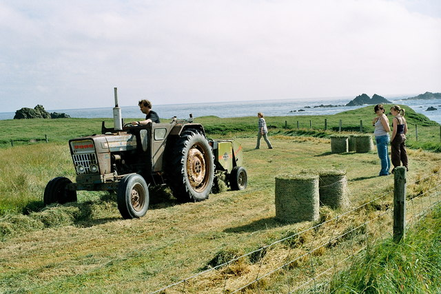Silage making on Fair Isle