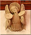 TQ5793 : St Peter, South Weald - Musical Angel by John Salmon