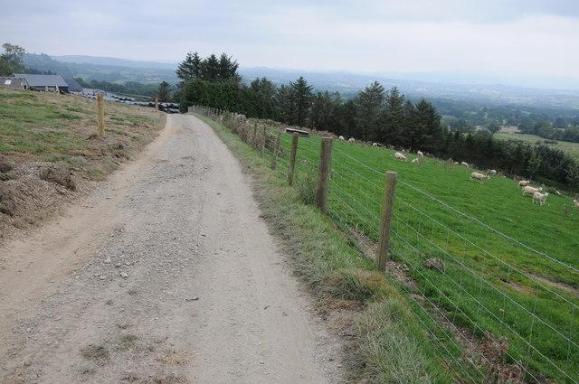 Farm road near Gwynfan
