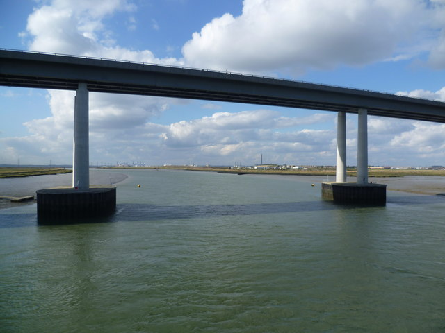 The Sheppey Crossing from Kingsnorth Bridge