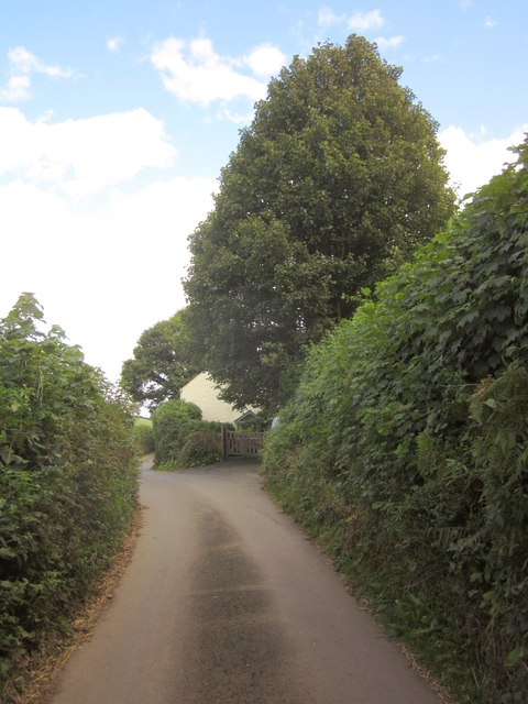 Lane to Lower Washbourne