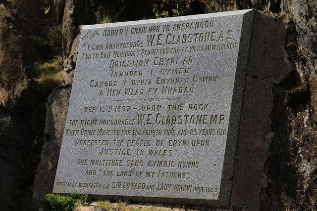 Gladstone Rock text
