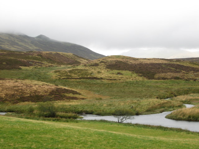 The River Braan cutting its way through the hills near Amulree