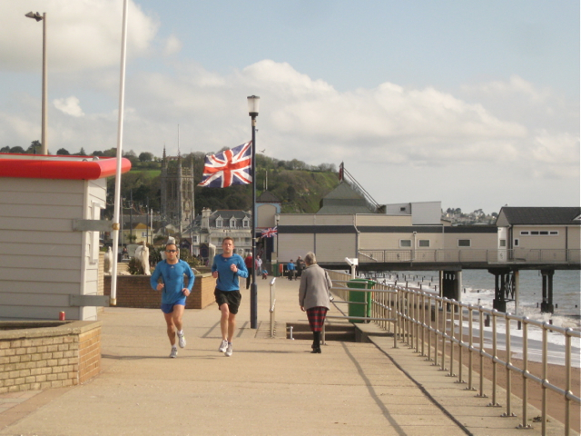 Jogging on the seafront