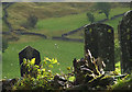 NY8901 : Headstones at Keld by Karl and Ali