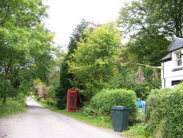 A lonely phone box at Invercreran