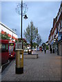 TQ2863 : Wallington: golden postbox, Woodcote Road by Christopher Hilton