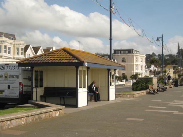 Shelter, Teignmouth seafront