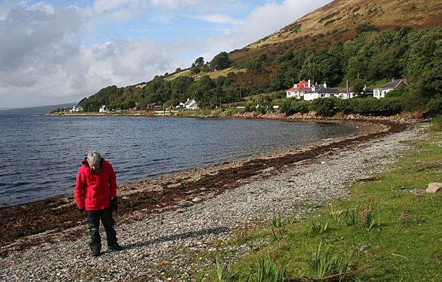 Beachcombing at Loch Ranza