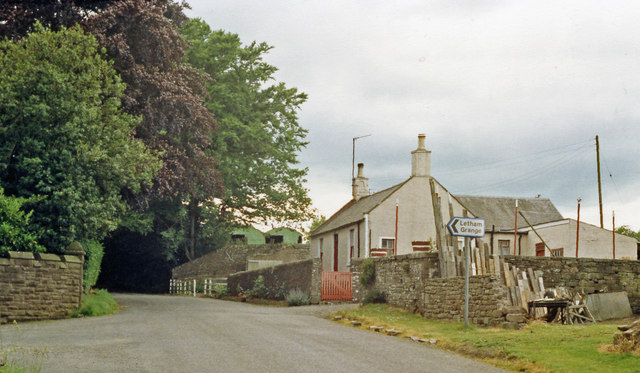 Site of Colliston station, 1988