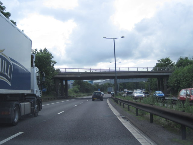 M56 passes under Longley Lane