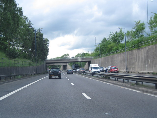 M56 about to pass under Altrincham
