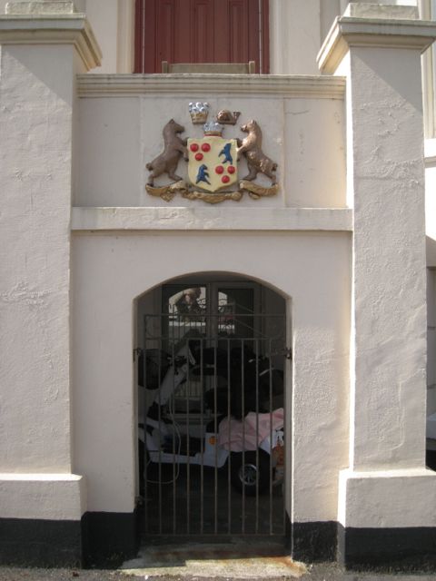 Devon's coat of arms, Devon House, Esplanade