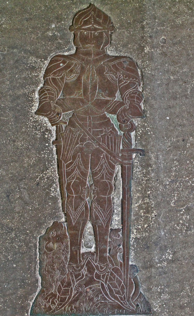 Brass of Henry Rochford, Ss Andrew & Mary's church, Stoke Rochford