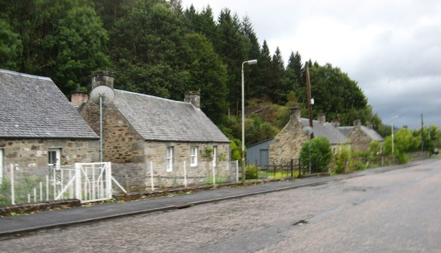 Cottages at the hamlet of Kindallachan in Perthshire