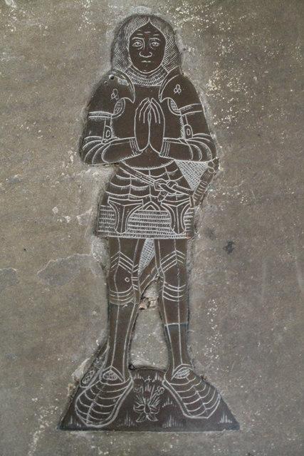 Brass of Oliver St John, Ss Andrew & Mary's church, Stoke Rochford