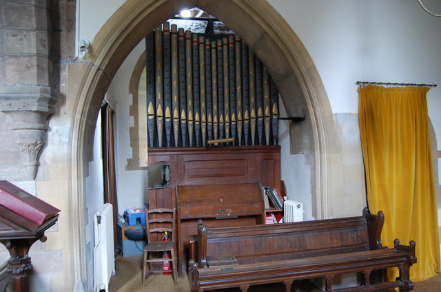 Organ, All Saints' church, Coddington