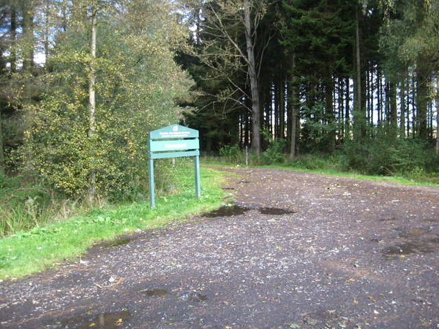 The entrance and track in to Taymount Woods
