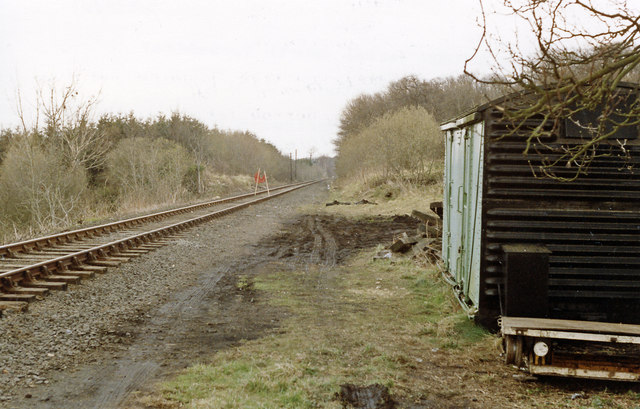 Site of Constable Burton station, 1989.