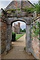 TF7401 : Oxborough Hall viewed through a gateway by Mick Malpass