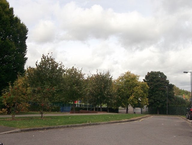 Entrance to Waddesdon school from school building