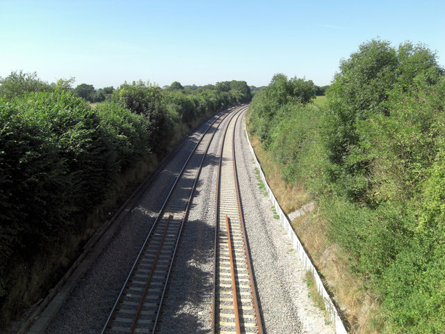 Basingstoke to Andover railway line