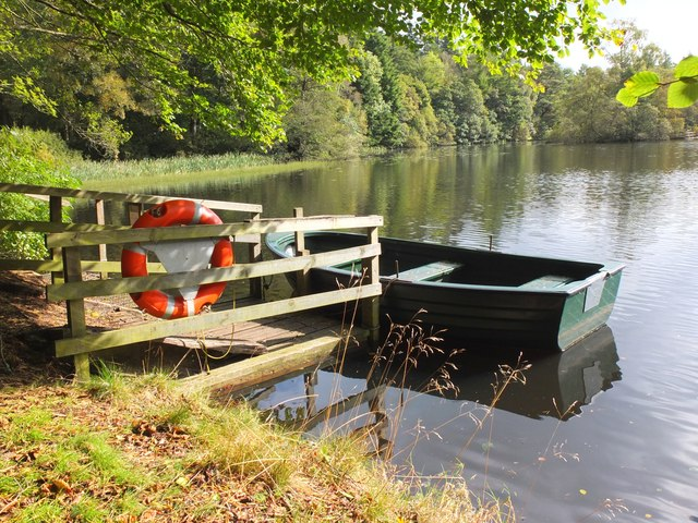 Boat on the Lower Lake, Bowhill