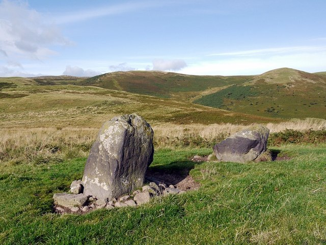 Standing stones west of White Hill