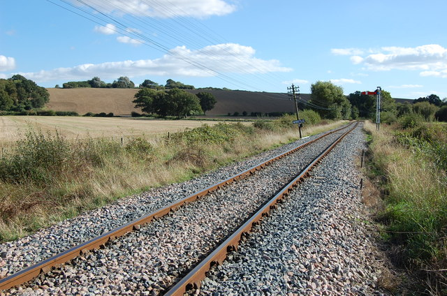 Railway line towards Bodiam