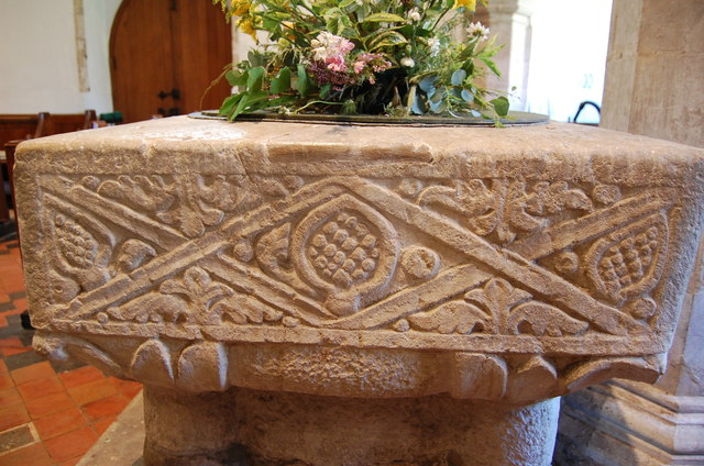 Font Detail, St Peter's, Newenden