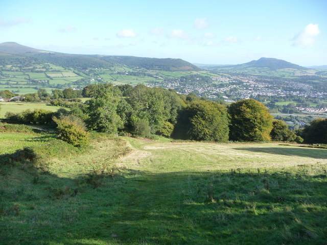 View northwards from the lower slopes of the Blorenge