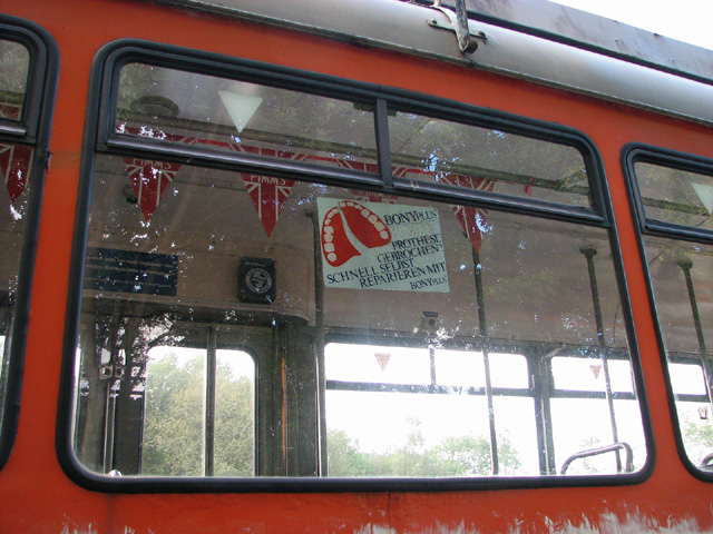 German tram at Whitwell & Reepham railway station (detail)