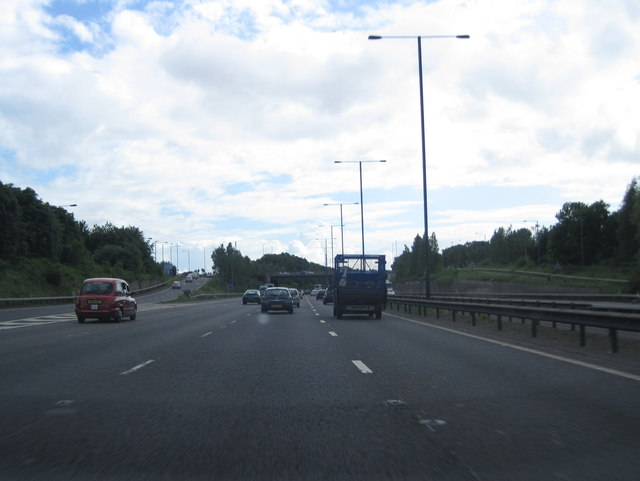 M56 westbound at Junction 4