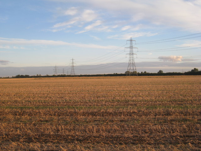 Pylons near Heckington
