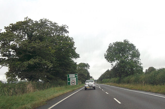 A421 crossroads near Mixbury Lodge