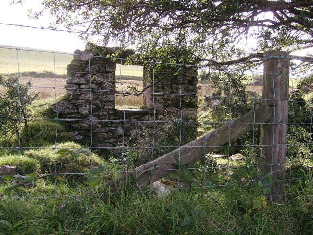 Ruin opposite Pistyll Teg
