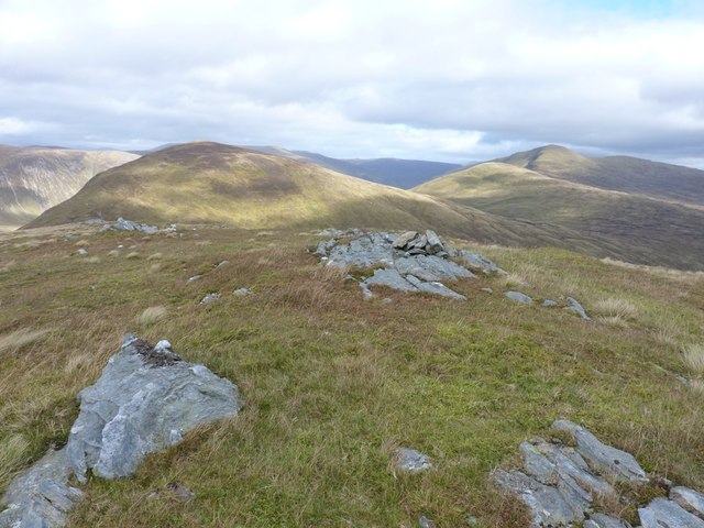 Cairn near the summit of Meall Phubuill