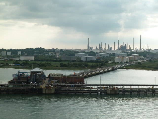 Fawley Refinery and jetty