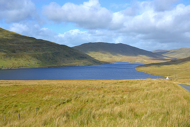 The western arm of Nant-y-moch reservoir
