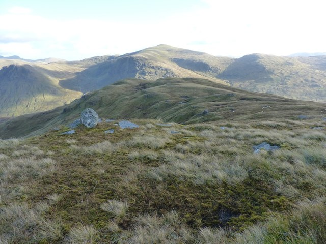 Down the ridge to Meall Dubh