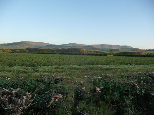 View to the Black Mountains in the evening