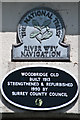 SU9950 : Plaque, Woodbridge Road bridge by Ian Capper
