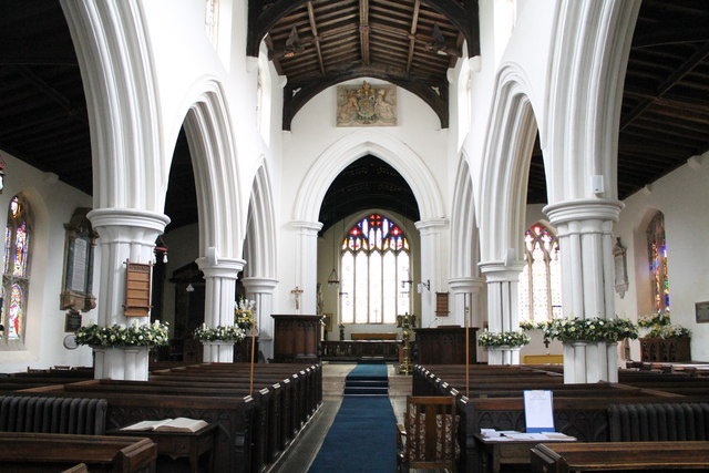 Interior, St Michael's church, Edenham
