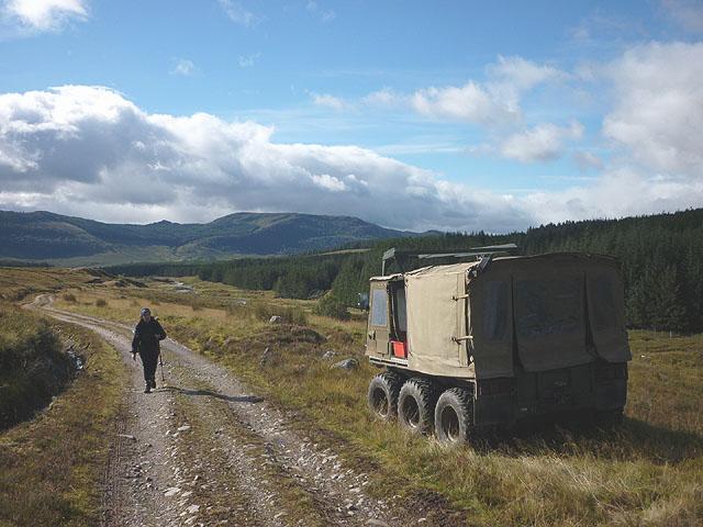 Argocat by the Glen Markie track