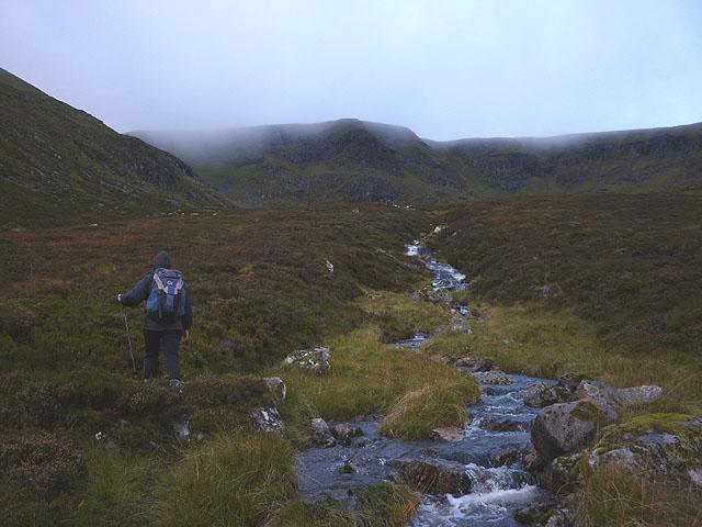 Heading towards Lochan a' Choire