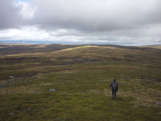 On the northern flanks of Geal Charn