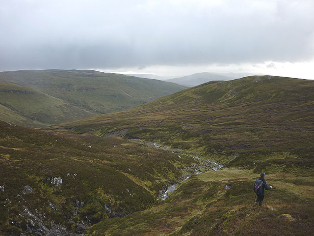 Descending into the Allt nam Beith