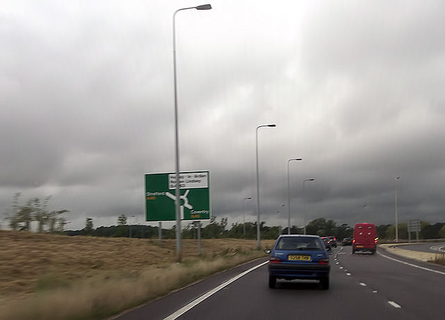 New roundabout on A46 at Junction 15 M40
