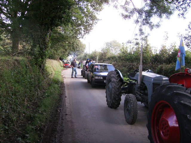 Tractor run, impromptu stop