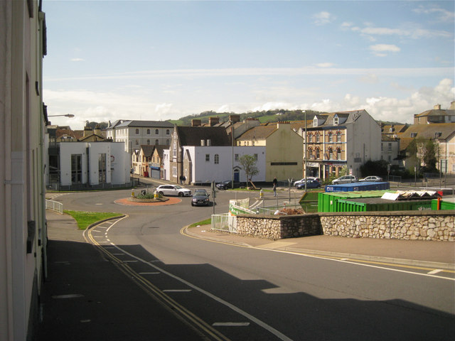 Looking down Myrtle Hill